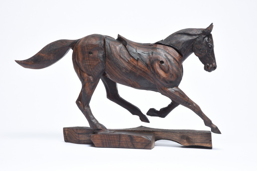 Galloping Racehorse Walnut