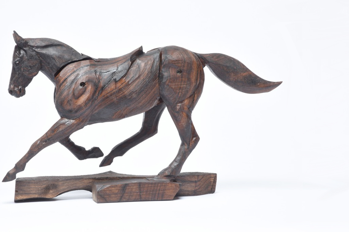 Galloping Racehorse